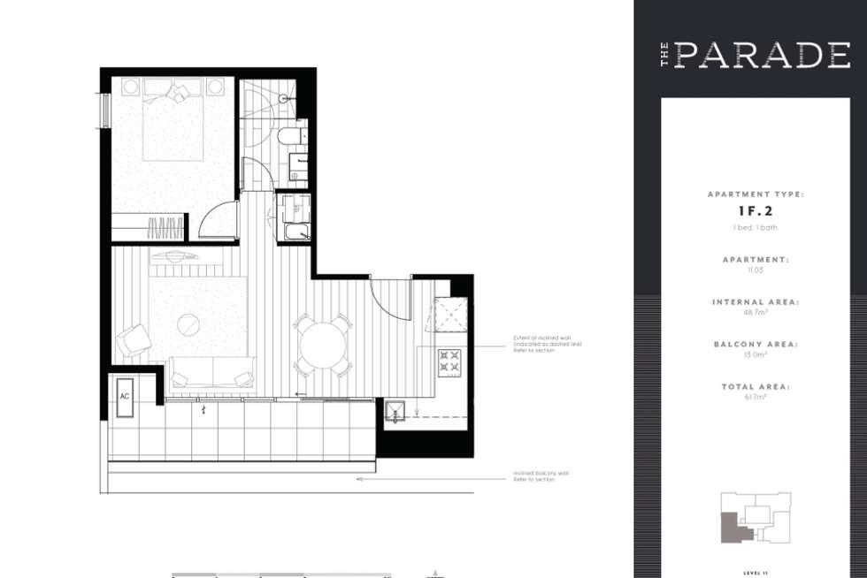 Floorplan of Homely apartment listing, 1103/9-11 Ellingworth Parade, Box Hill VIC 3128