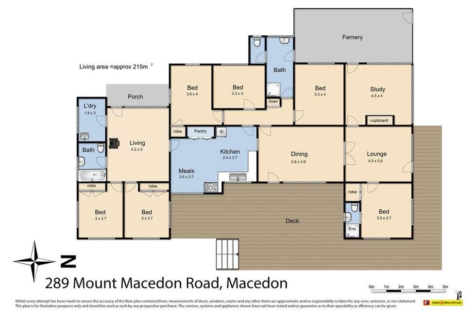 Floorplan of Homely house listing, 289 Mount Macedon Road, Macedon VIC 3440