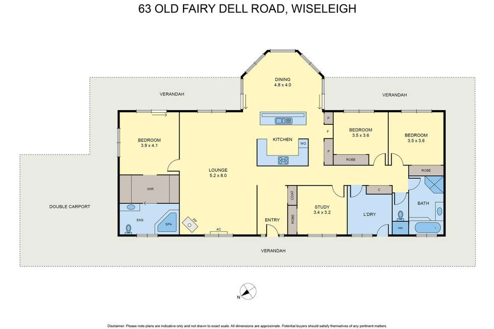 Floorplan of Homely acreageSemiRural listing, 63 Old Fairy Dell Rd, Wiseleigh VIC 3885