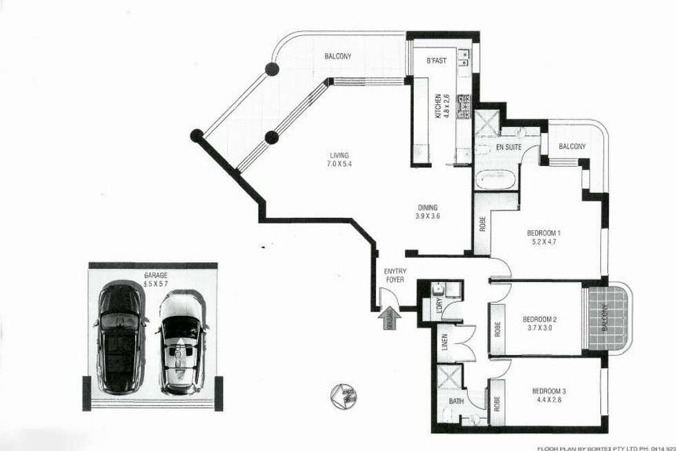 Floorplan of Homely unit listing, Unit 1202/7 Black Lion Place, Kensington NSW 2033