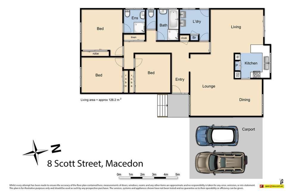 Floorplan of Homely house listing, 8 Scott Street, Macedon VIC 3440