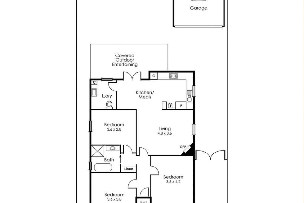 Floorplan of Homely house listing, 16 First Street, West Footscray VIC 3012