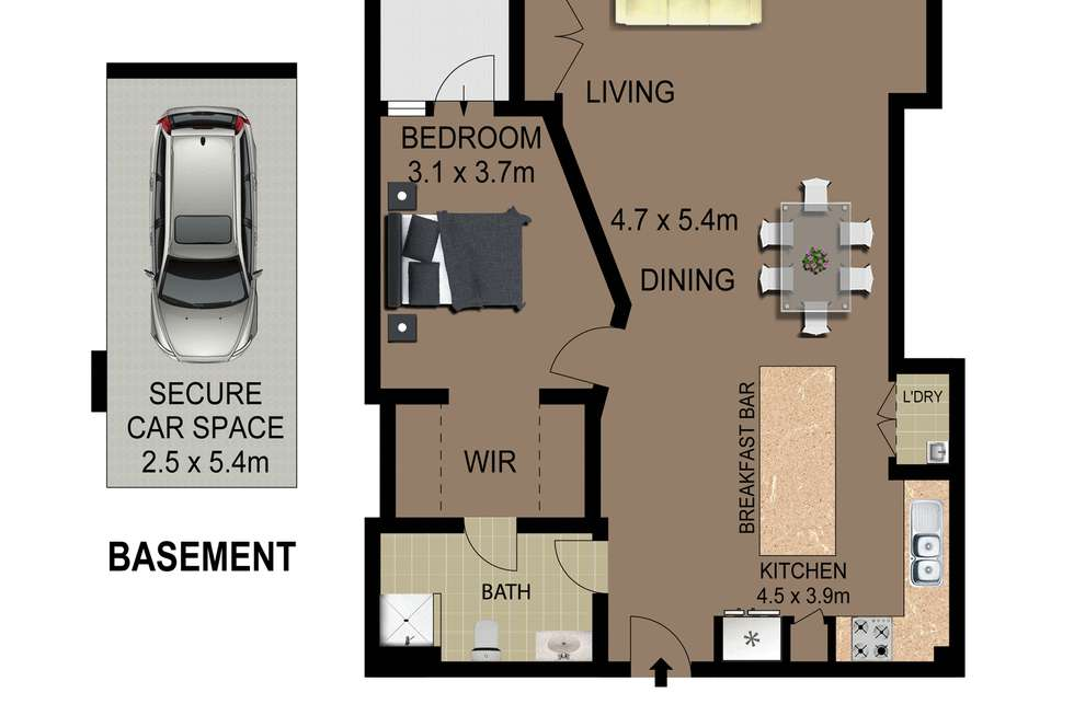 Floorplan of Homely apartment listing, 30/4 Benedict Court, Holroyd NSW 2142