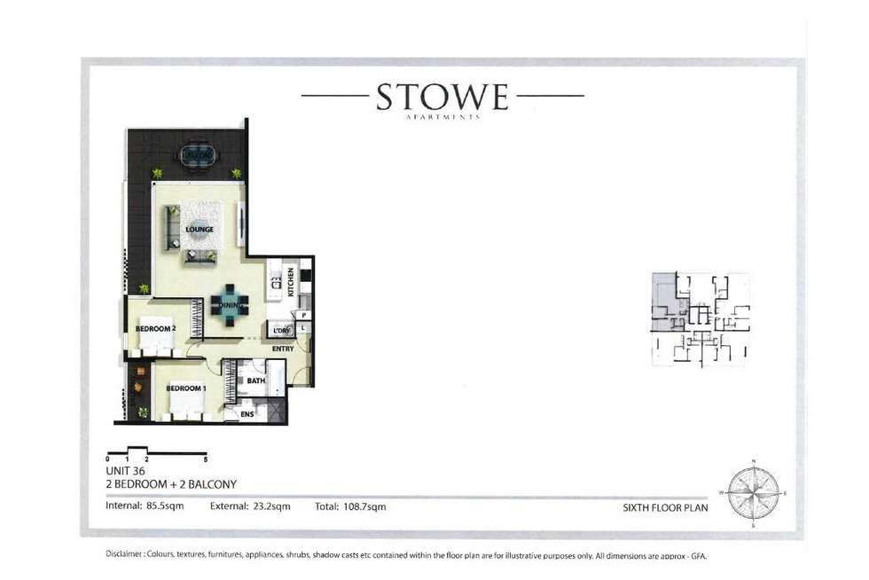 Floorplan of Homely apartment listing, 36/47 Stowe Avenue, Campbelltown NSW 2560