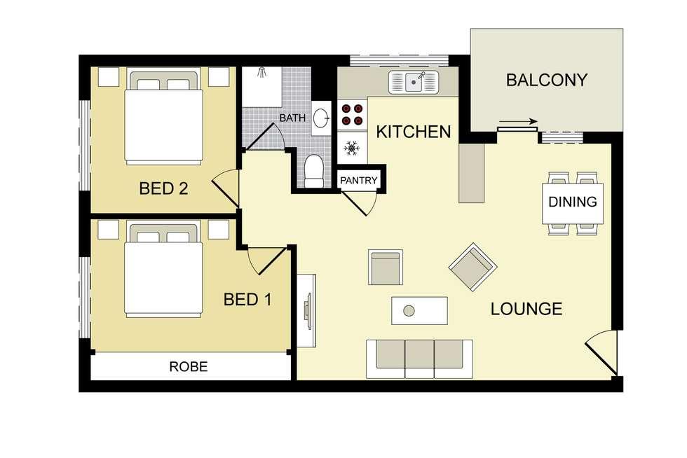 Floorplan of Homely unit listing, 6/6 Reddall Street, Campbelltown NSW 2560