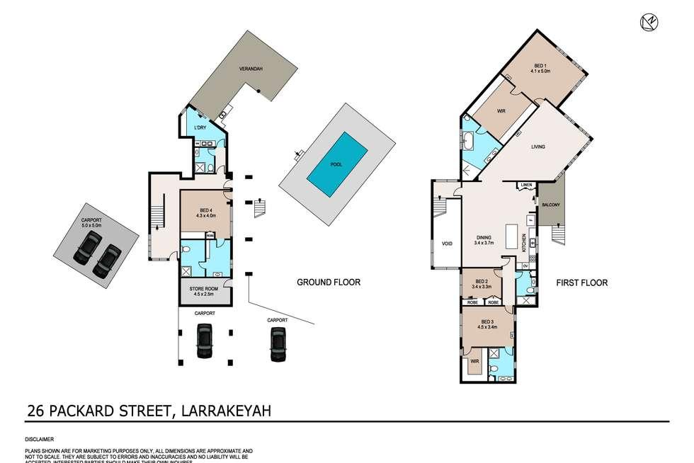 Floorplan of Homely house listing, 26 Packard Street, Larrakeyah NT 820