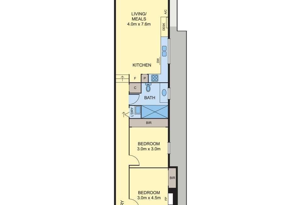 Floorplan of Homely house listing, 78 Bellair Street, Kensington VIC 3031