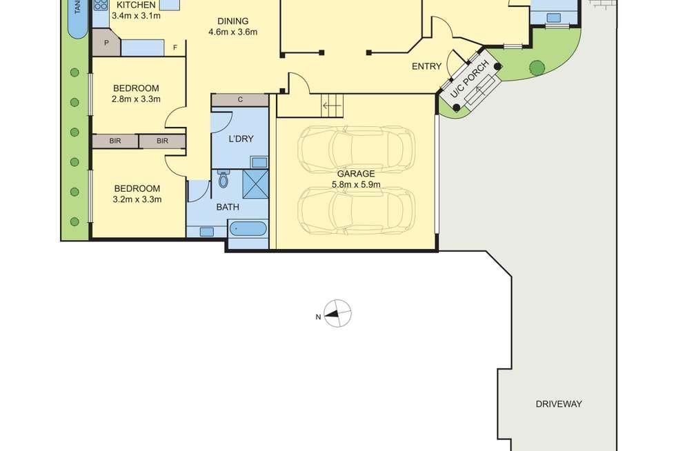 Floorplan of Homely villa listing, 2/28 Dunscombe Avenue, Glen Waverley VIC 3150