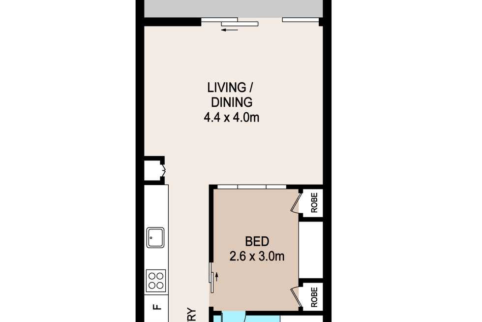 Floorplan of Homely unit listing, 501/6 Carey Street, Darwin City NT 800