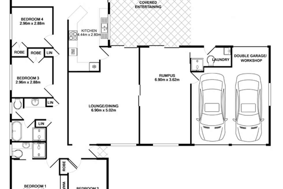 Floorplan of Homely house listing, 25 Darling Street, Abbotsbury NSW 2176