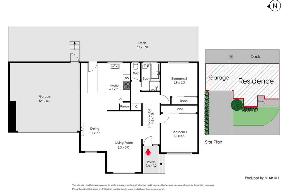 Floorplan of Homely house listing, 2/1 Howard Street, Glen Iris VIC 3146