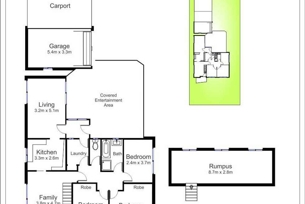 Floorplan of Homely house listing, 20 Bryson Avenue, Kotara NSW 2289