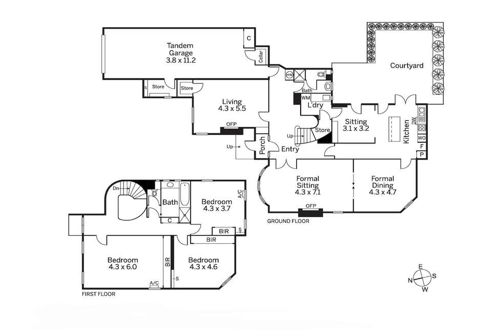 Floorplan of Homely house listing, Residence 2/4 St Georges Court, Toorak VIC 3142