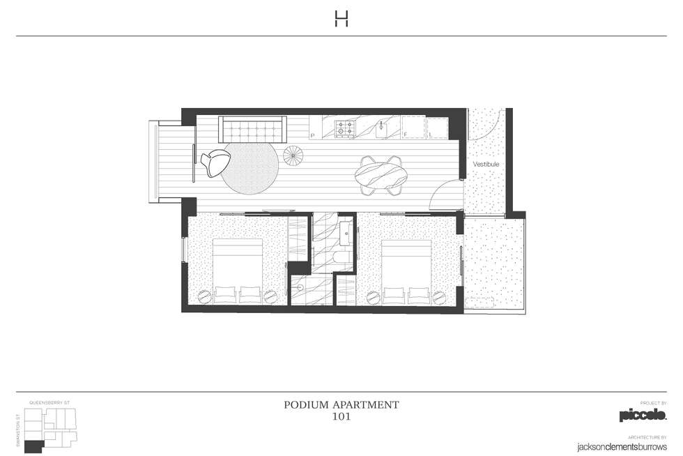 Floorplan of Homely apartment listing, 101/518 Swanston Street, Carlton VIC 3053