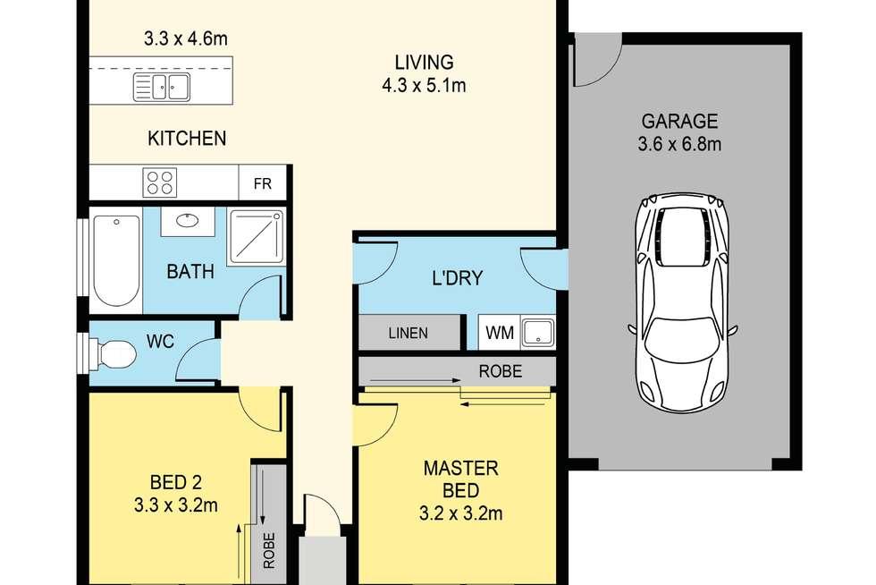 Floorplan of Homely house listing, 11/107 St Killian Street, White Hills VIC 3550