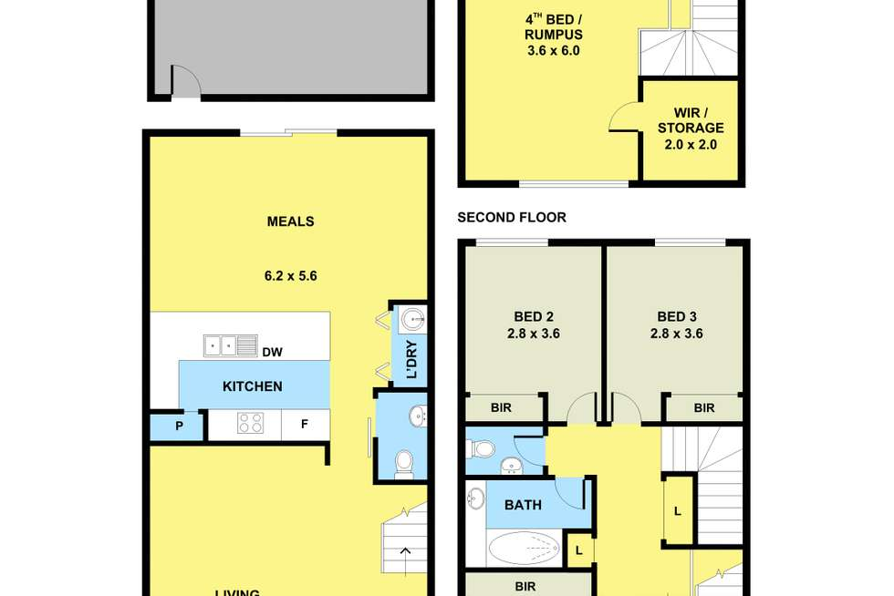Floorplan of Homely townhouse listing, 5 Wentworth Drive, Taylors Lakes VIC 3038