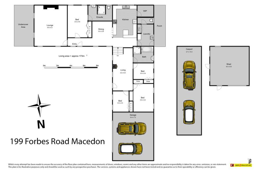 Floorplan of Homely house listing, 199 Forbes Road, Macedon VIC 3440