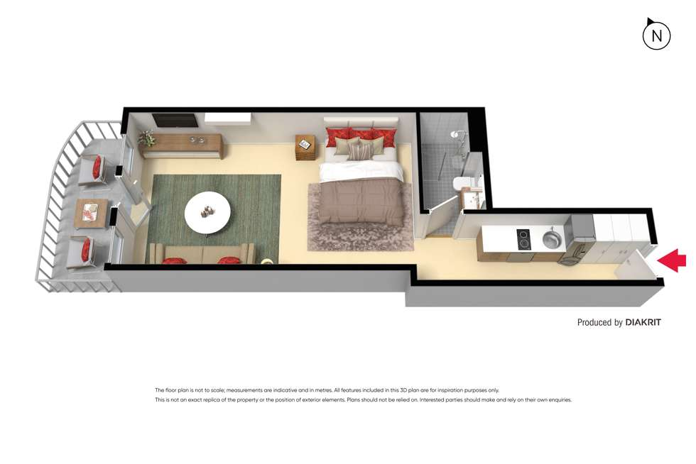 Floorplan of Homely apartment listing, 906/435 Nepean Highway, Frankston VIC 3199