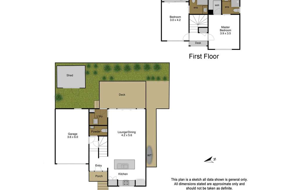 Floorplan of Homely townhouse listing, 2/34 Belmont Road West, Croydon South VIC 3136