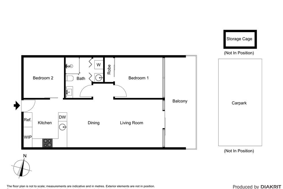 Floorplan of Homely apartment listing, 905/1 Roy Street, Melbourne VIC 3004