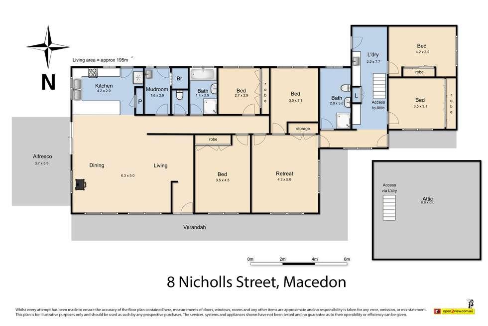 Floorplan of Homely house listing, 8 Nicholls Street, Macedon VIC 3440