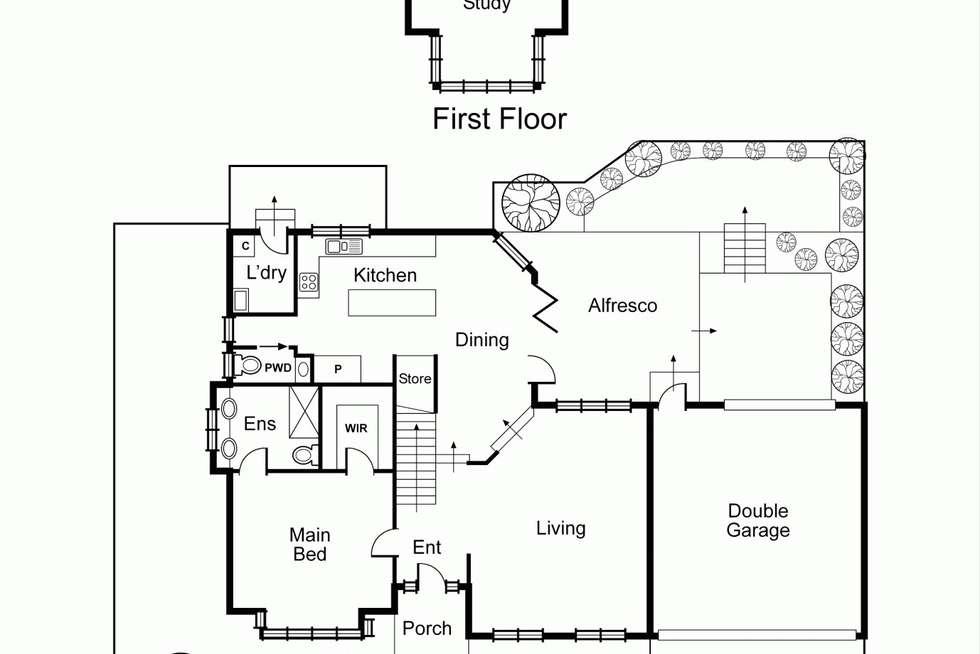 Floorplan of Homely house listing, 27 Tulip Grove, Cheltenham VIC 3192
