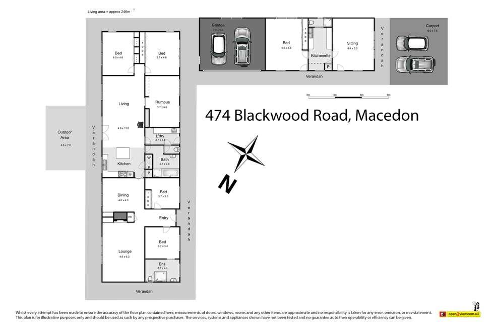 Floorplan of Homely house listing, 474 Blackwood Road, Macedon VIC 3440