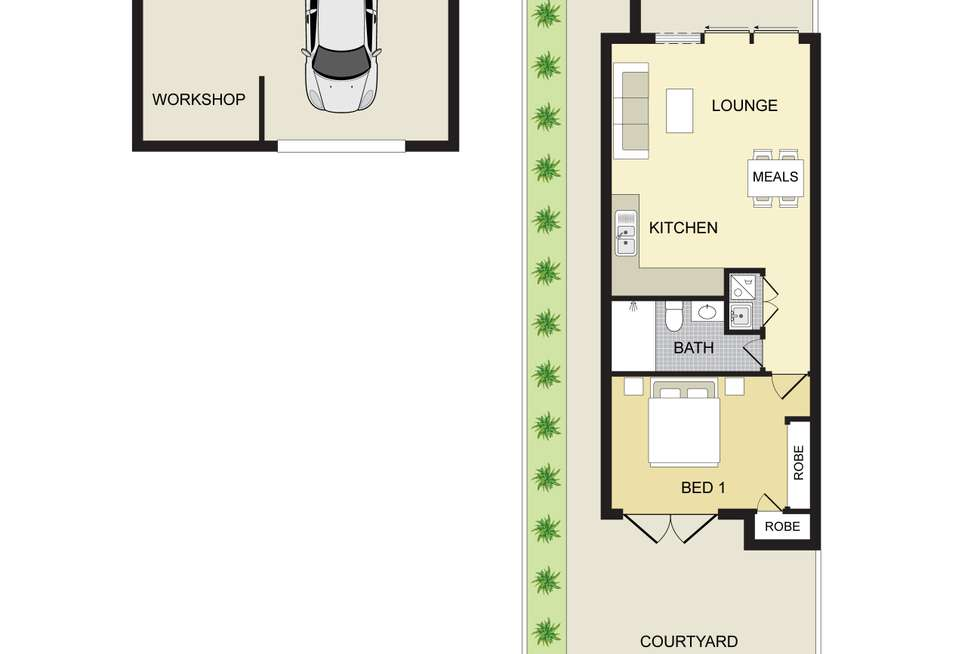Floorplan of Homely unit listing, 32/15-17 Parc Guell Drive, Campbelltown NSW 2560