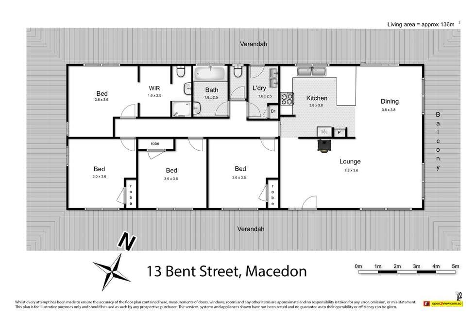 Floorplan of Homely house listing, 13 Bent Street, Macedon VIC 3440