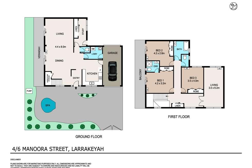 Floorplan of Homely unit listing, 4/6 Manoora Street, Larrakeyah NT 820