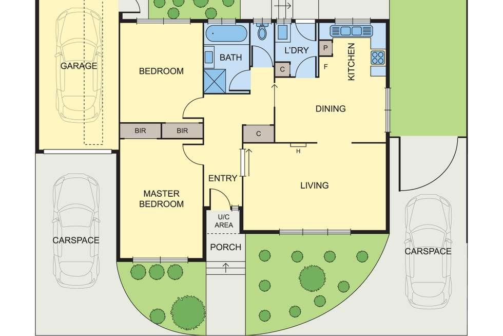 Floorplan of Homely unit listing, 2/60 Warwick Road, Greensborough VIC 3088