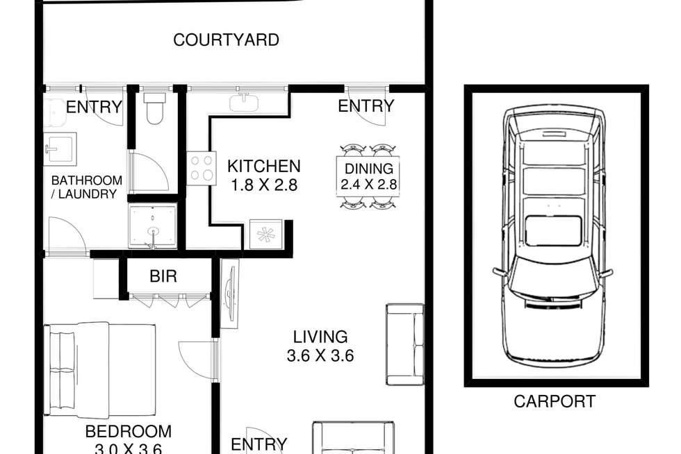 Floorplan of Homely unit listing, 5/33-35 Roberts Street, Frankston VIC 3199