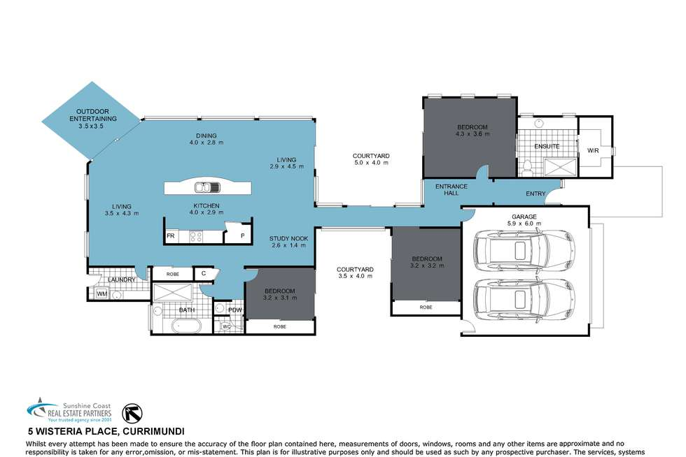 Floorplan of Homely house listing, 5 Wisteria Place, Currimundi QLD 4551