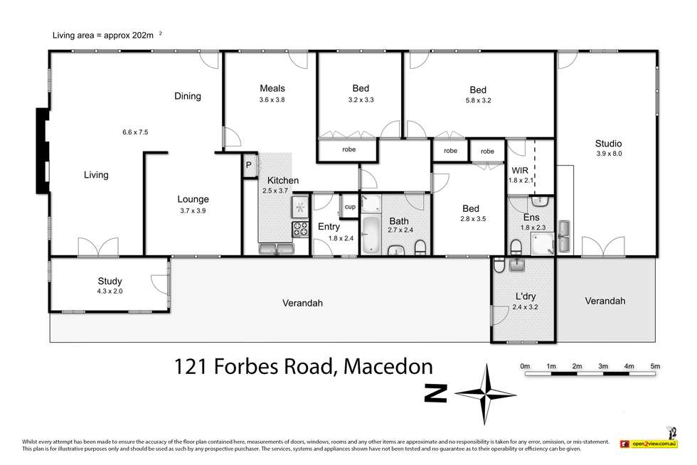 Floorplan of Homely house listing, 121 Forbes Road, Macedon VIC 3440