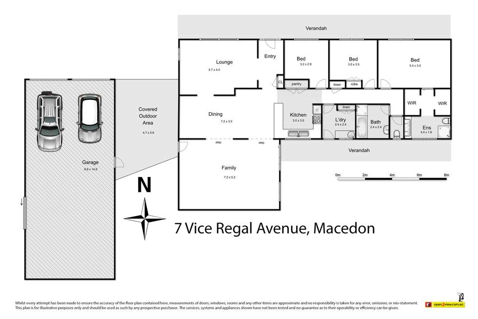 Floorplan of Homely house listing, 7 Vice Regal Avenue, Macedon VIC 3440