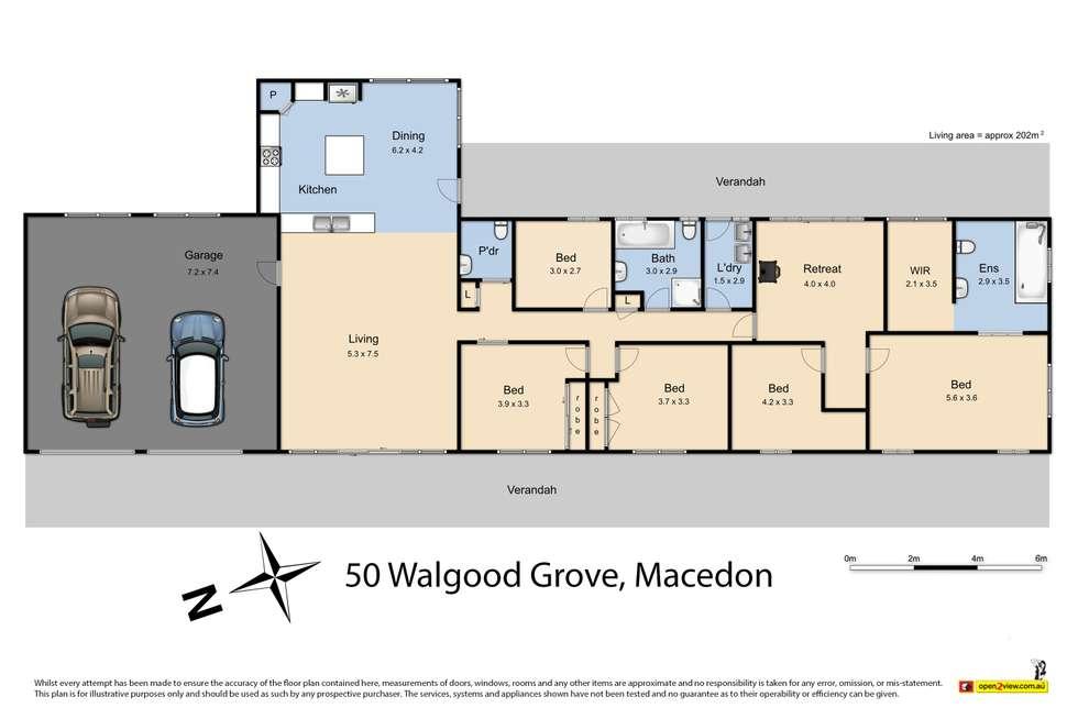 Floorplan of Homely house listing, 50 Walgood Grove, Macedon VIC 3440