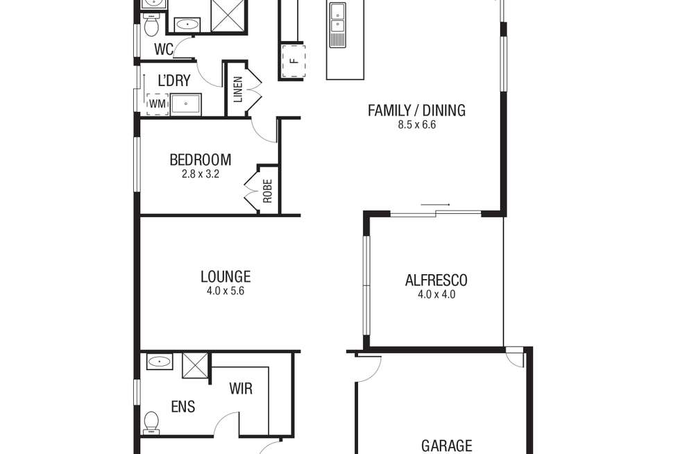 Floorplan of Homely house listing, 21 Empress Avenue, Wollert VIC 3750
