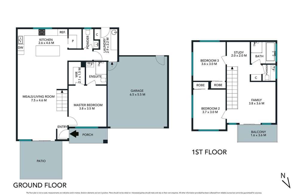 Floorplan of Homely townhouse listing, 1/20 Oakland Street, Mornington VIC 3931