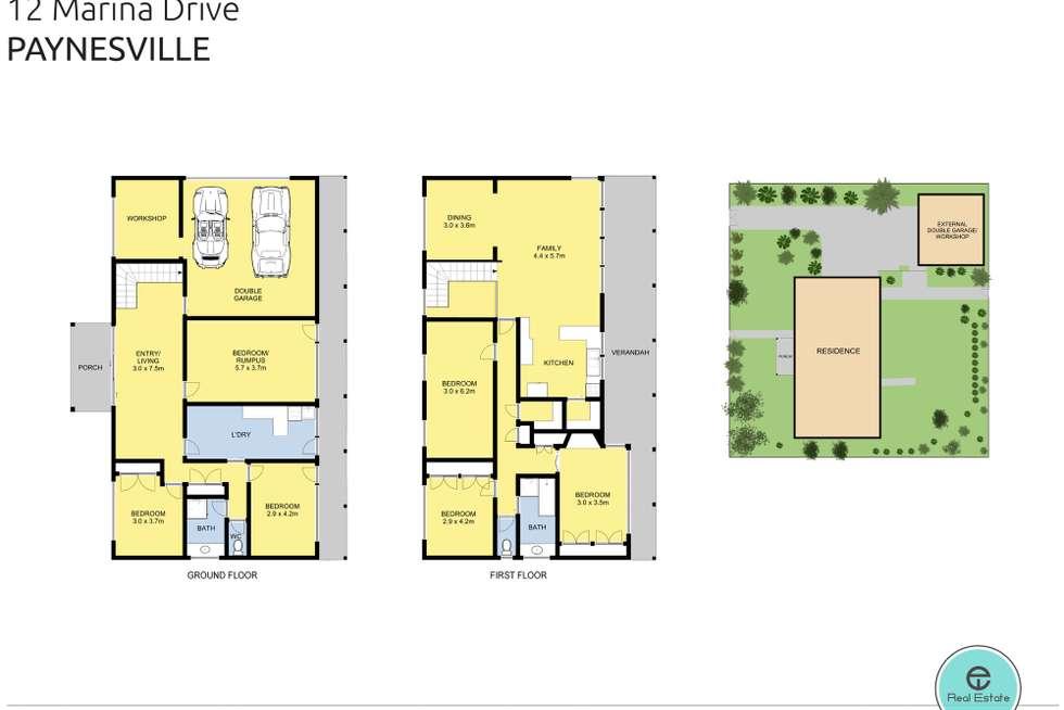 Floorplan of Homely house listing, 12 Marina Drive, Paynesville VIC 3880