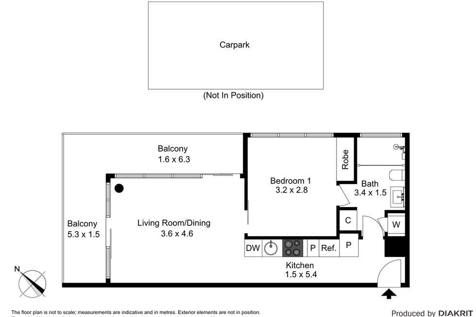 Floorplan of Homely apartment listing, 204/1 Clara Street, South Yarra VIC 3141