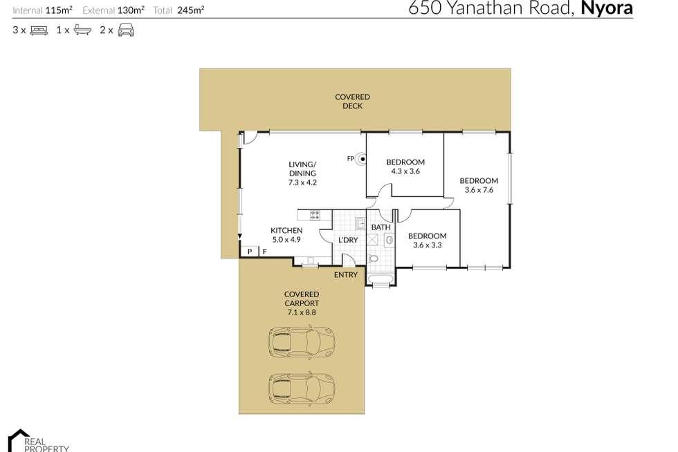Floorplan of Homely house listing, 650 Yannathan Road, Nyora VIC 3987