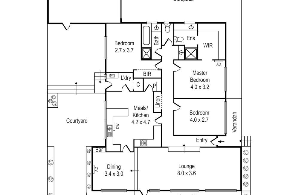 Floorplan of Homely villa listing, 1/434 Balcombe Road, Beaumaris VIC 3193