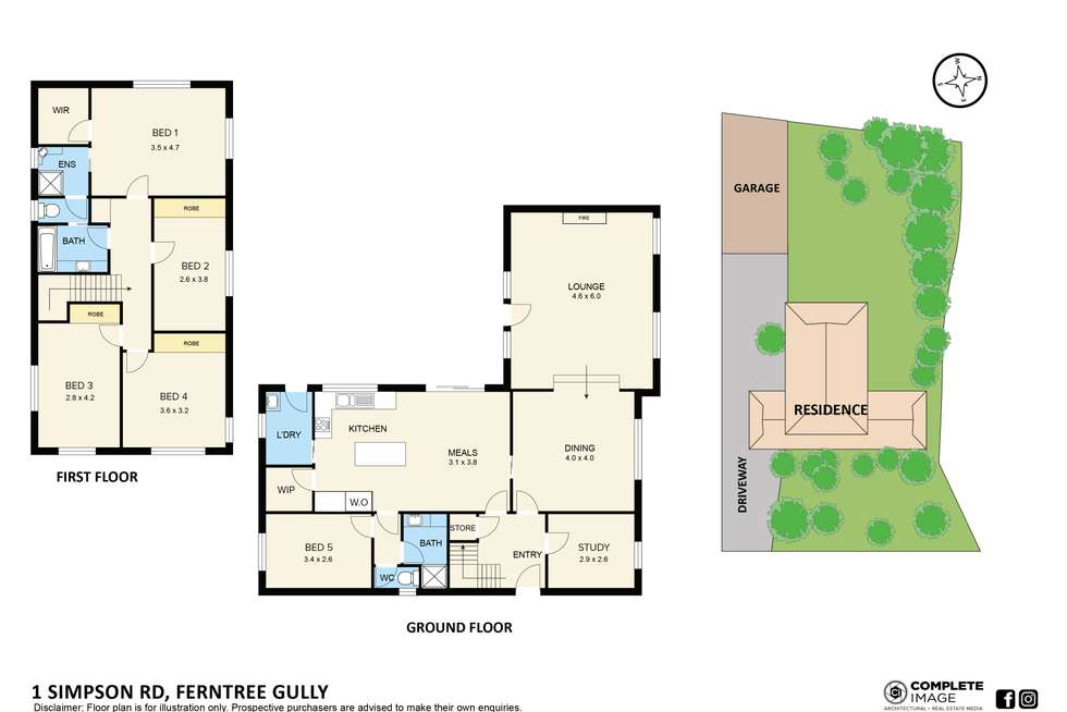 Floorplan of Homely house listing, 1 Simpson Road, Ferntree Gully VIC 3156