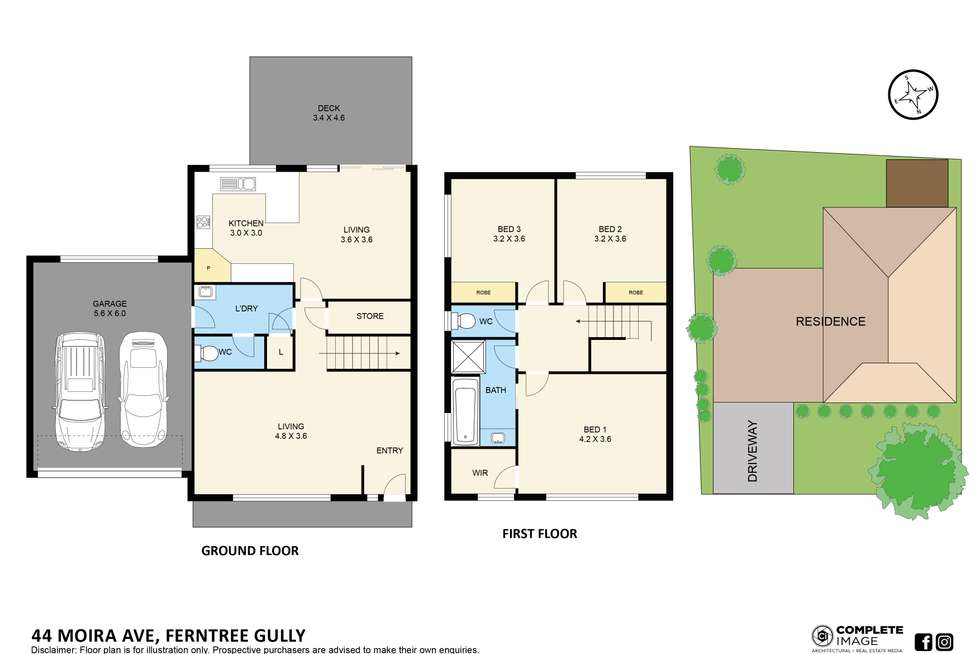 Floorplan of Homely townhouse listing, 44 Moira Avenue, Ferntree Gully VIC 3156