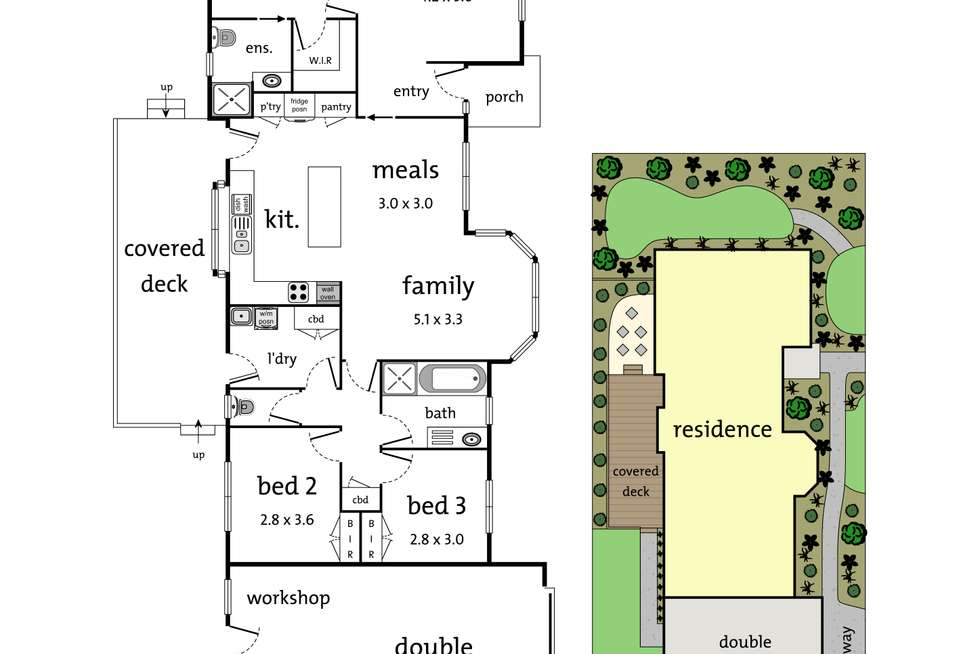 Floorplan of Homely house listing, 16 Manifold Court, Croydon South VIC 3136