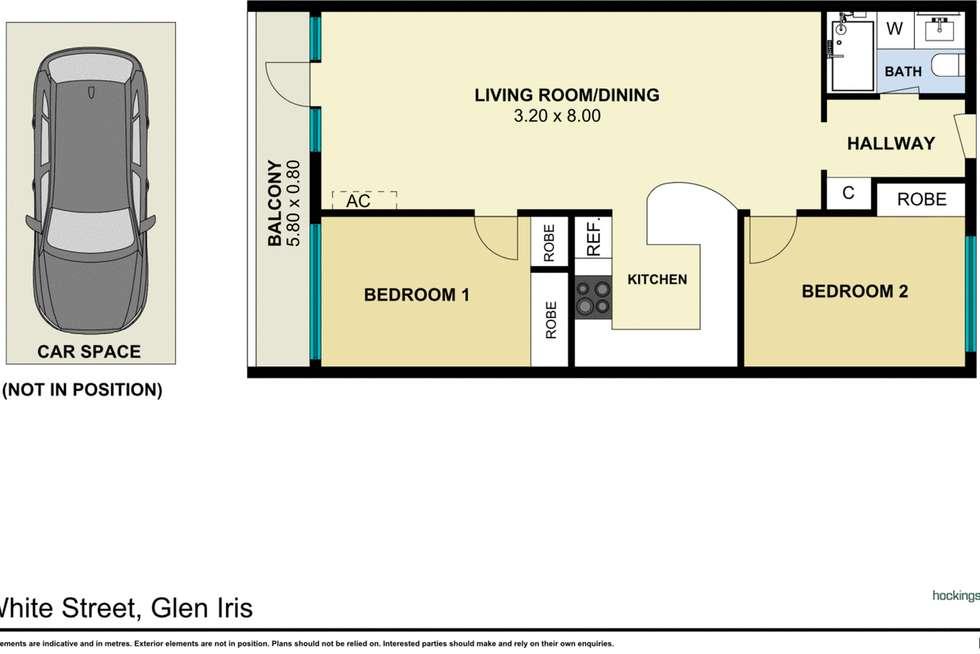 Floorplan of Homely apartment listing, 17/10-16 White Street, Glen Iris VIC 3146