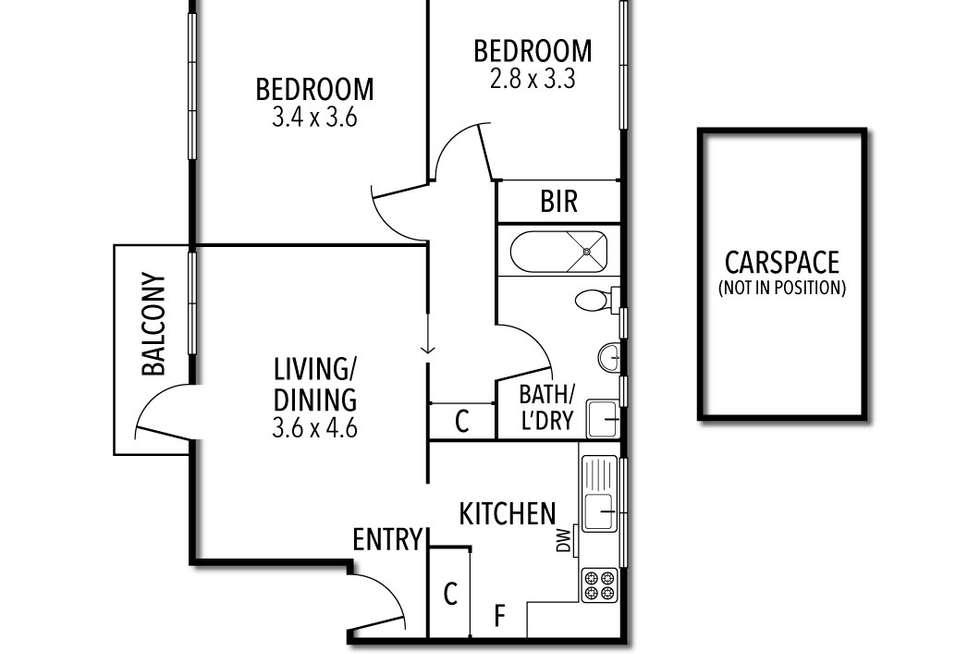 Floorplan of Homely apartment listing, 2/81 Grey Street, St Kilda VIC 3182