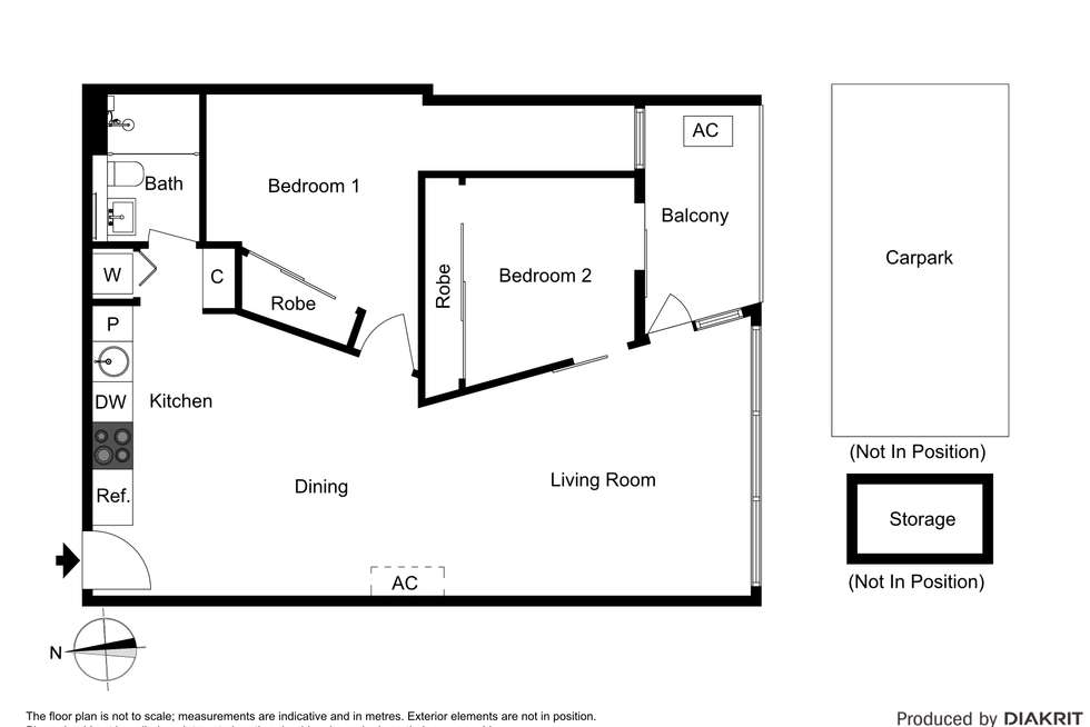 Floorplan of Homely apartment listing, 512/32 Bray Street, South Yarra VIC 3141