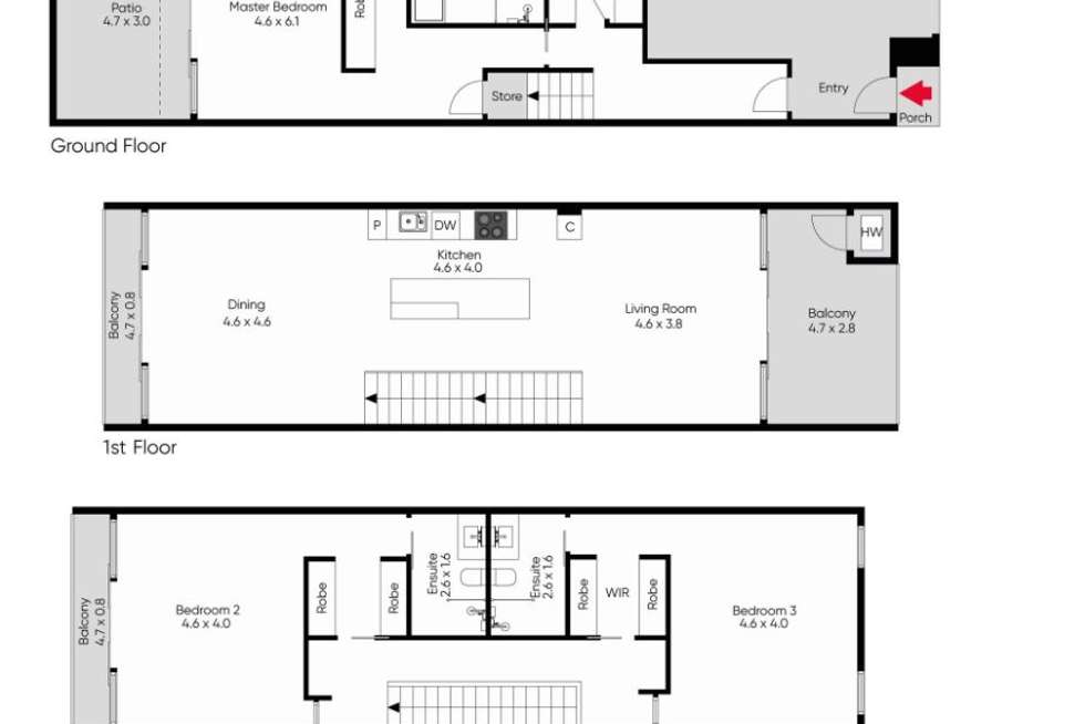 Floorplan of Homely house listing, 17B Balmoral Place, South Yarra VIC 3141