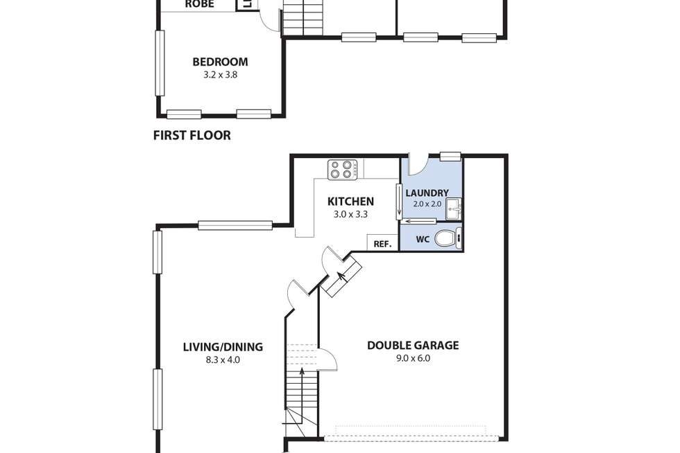 Floorplan of Homely townhouse listing, 6/25 Highway Avenue, West Wollongong NSW 2500